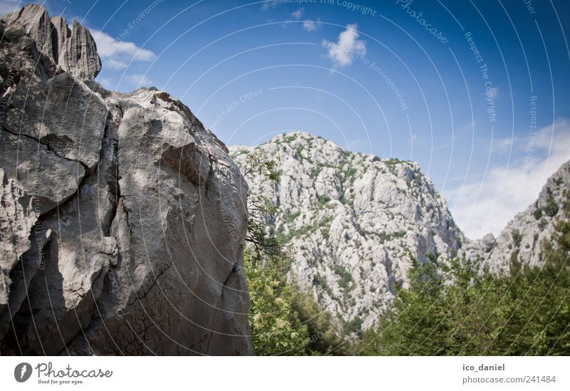 Winnetou lässt grüßen Natur blau grün Freude Ferien & Urlaub & Reisen Wolken Landschaft grau Bewegung Stein Park Kraft gehen Felsen Ausflug wandern