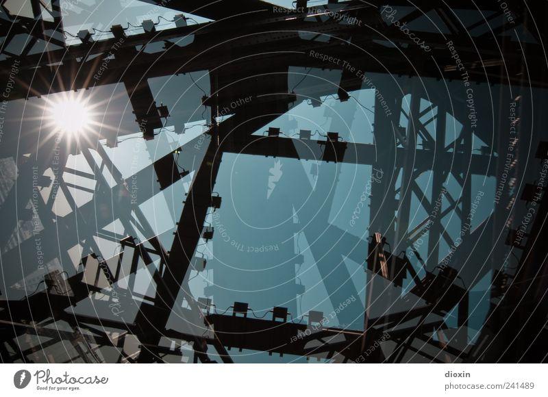 Alteisen alt Sonne Ferien & Urlaub & Reisen Architektur groß Tourismus authentisch Europa Turm Bauwerk Paris historisch Wahrzeichen chaotisch Doppelbelichtung
