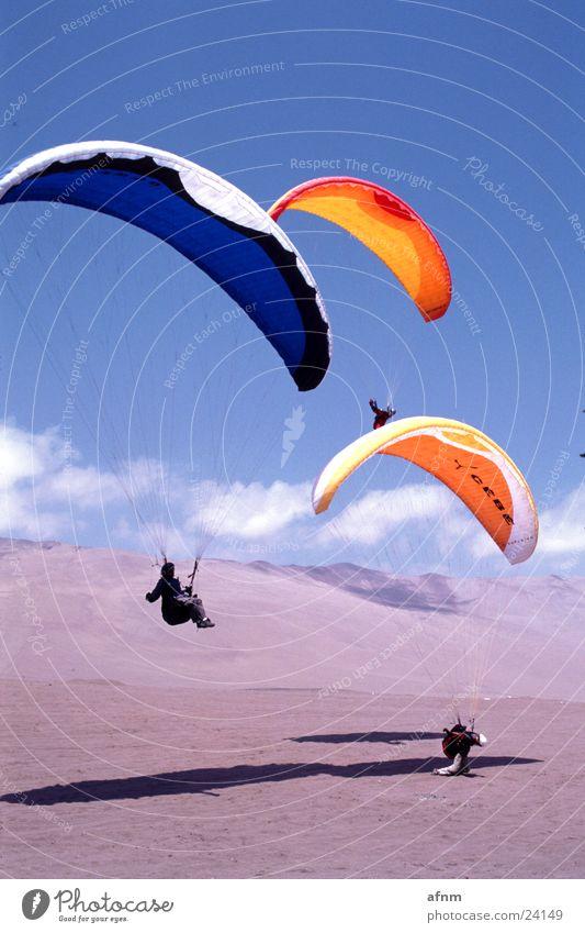 aerodyne.fr Himmel Sport Fallschirm Wüste Skyline Gleitschirm