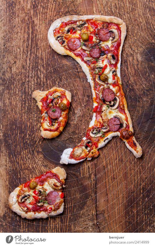 Pizza In Form Der Italienischen Halbinsel   Ein Lizenzfreies Stock Foto Von  Photocase