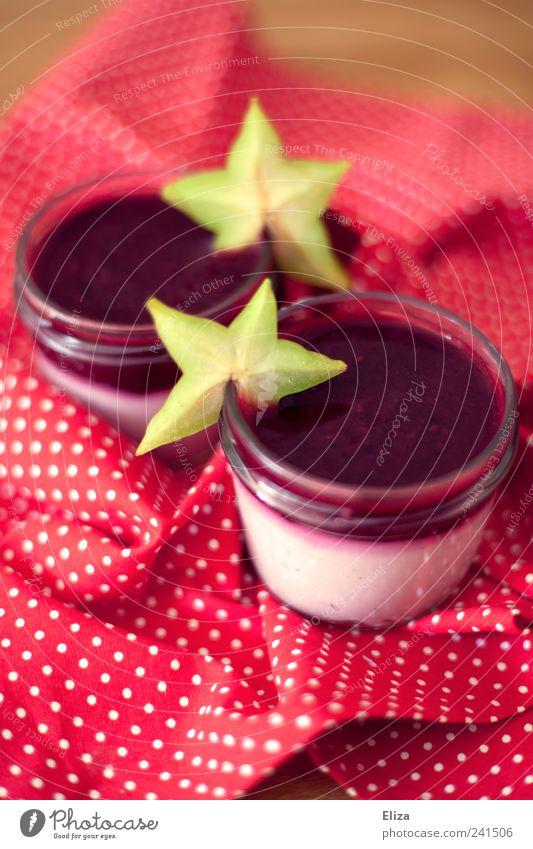 Schneeweißchen und Rosenrot kalt Frucht frisch Punkt lecker Süßwaren Beeren Dessert Joghurt Milcherzeugnisse rot-weiß Quark Karambole