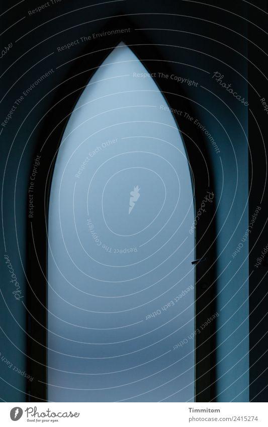 Geschwindigkeit | nahe Null blau ruhig schwarz Denken Tür einfach Bogen Torbogen Gotik