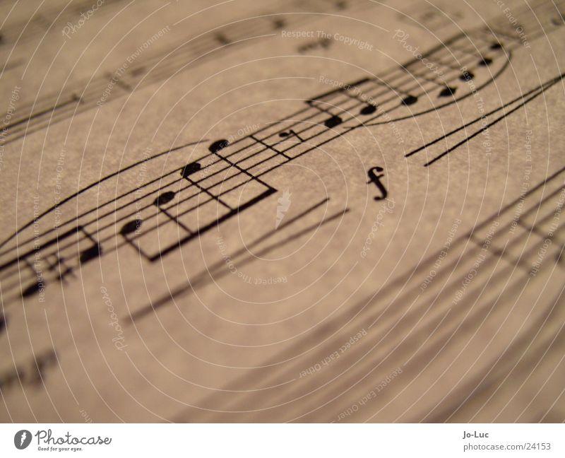 forte Blatt Spielen Musik Papier Teile u. Stücke Konzert Dynamik Musiknoten Klang Lied durchleuchtet Notenblatt
