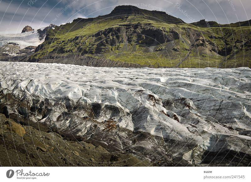 Sommereis Ferne Schnee Berge u. Gebirge Umwelt Natur Landschaft Urelemente Erde Wasser Himmel Klima Wetter Eis Frost Hügel Felsen Gletscher außergewöhnlich