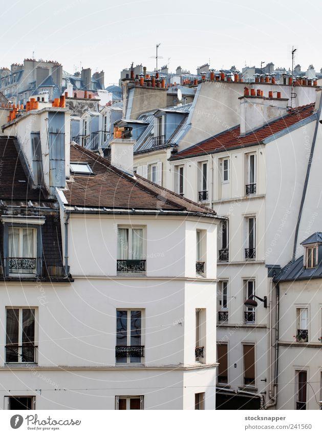 alt Haus Gebäude Paris Frankreich Französisch Franzosen Montmartre Wohnhaus
