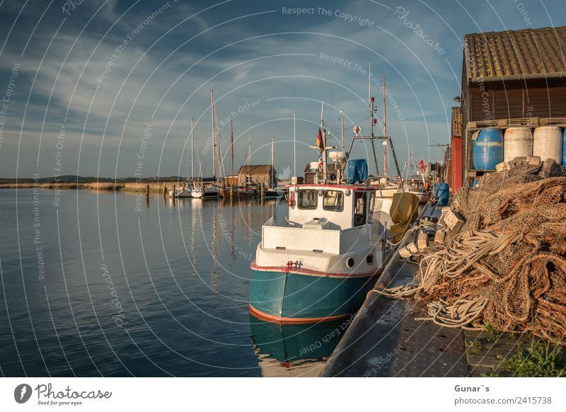 Fischerboote im Yachthafen, Bootshafen Gager Ruegen. Ostsee Ferien & Urlaub & Reisen Tourismus Freiheit Ausflug Idylle Insel Abenteuer Romantik Sommerurlaub