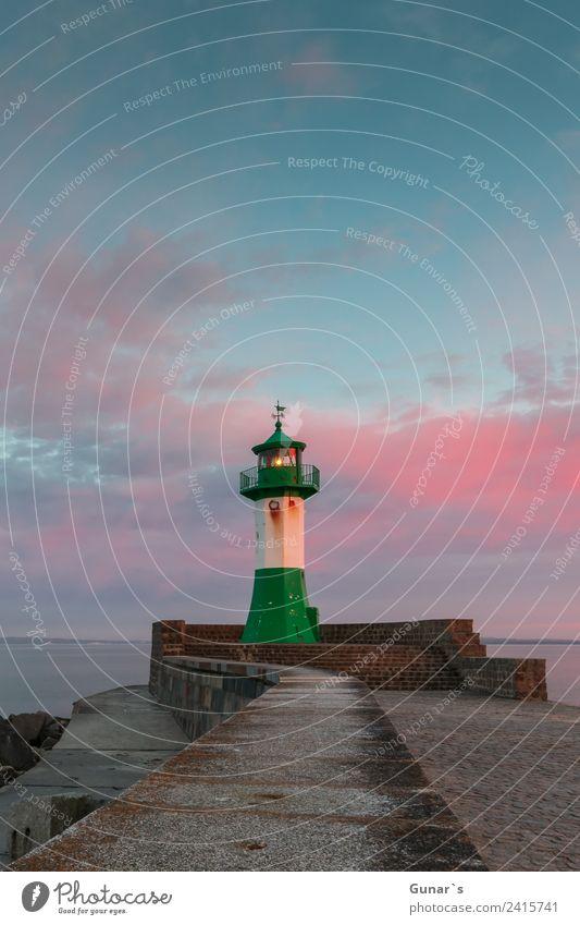 Sonnenuntergang Leuchtturm, Molenfeuer Sassnitz - Ruegen, Ostsee Ferien & Urlaub & Reisen Tourismus Ausflug Abenteuer Ferne Freiheit Kreuzfahrt Expedition