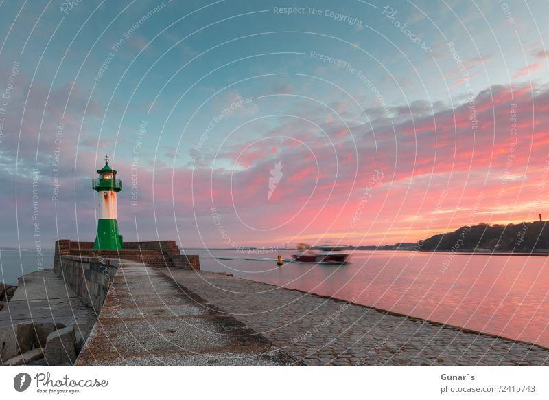 Sonnenuntergang Leuchtturm, Molenfeuer Sassnitz - Ruegen, Ostsee Ferien & Urlaub & Reisen Tourismus Ausflug Abenteuer Freiheit Kreuzfahrt Sommerurlaub Meer