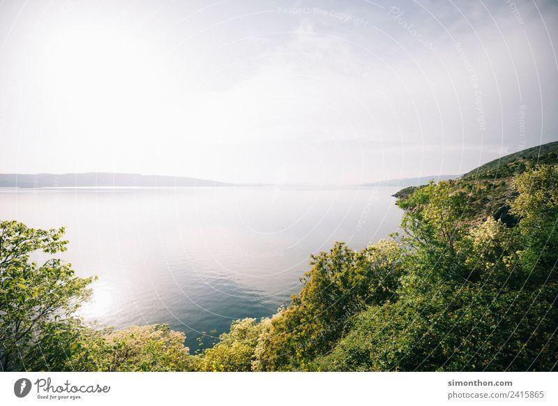 Natur Himmel Ferien & Urlaub & Reisen Sommer Wasser Sonne Landschaft Meer Ferne Umwelt Küste Tourismus Freiheit See Stimmung Ausflug