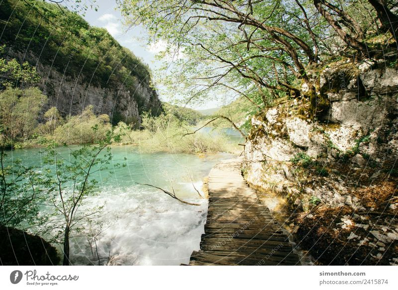 Natur Ferien & Urlaub & Reisen Sommer Pflanze Wasser Sonne Landschaft Erholung ruhig Ferne Berge u. Gebirge Freiheit Felsen Ausflug Zufriedenheit wandern