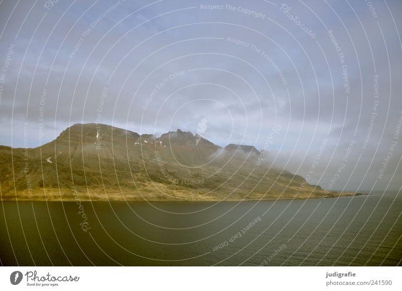 Island Natur Meer Wolken dunkel Berge u. Gebirge Landschaft Stimmung Umwelt Felsen wild natürlich Hügel Fjord Westfjord