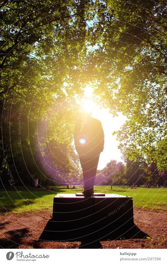 denk mal! Mensch Natur Mann Pflanze Sommer Sonne Baum Landschaft Tier Umwelt Denken Park Freizeit & Hobby Erde Lifestyle Klima