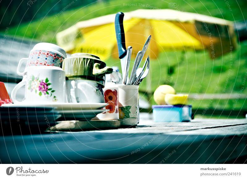 retro trash geschirr Ferien & Urlaub & Reisen Ernährung Stil Berge u. Gebirge Garten Wohnung wandern Design Felsen retro Tourismus Alpen Hügel Gipfel Geschirr Frühstück