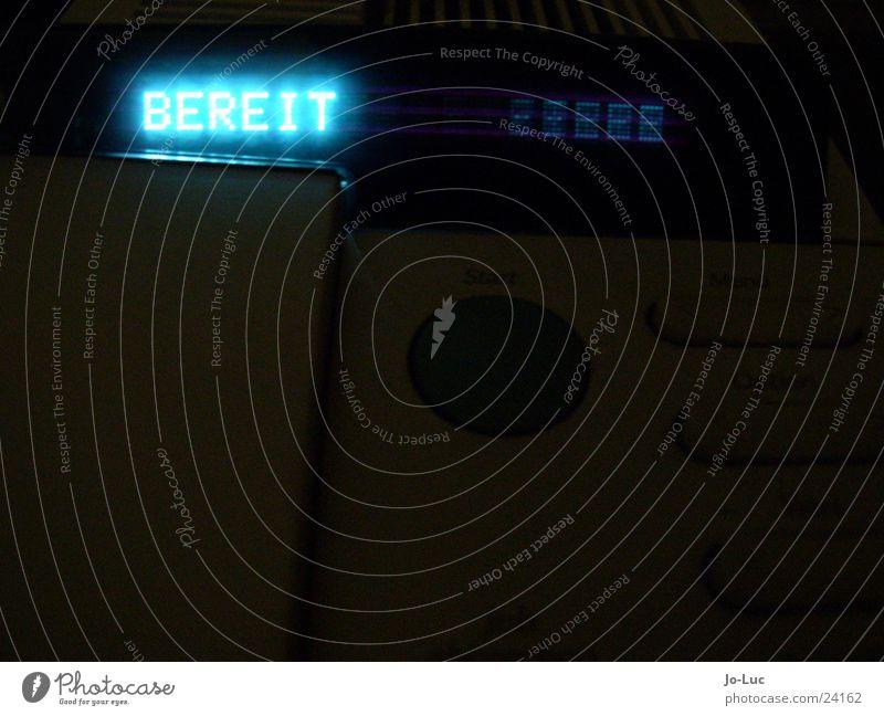 bist du...       (#1) blau Lampe Technik & Technologie Schriftzeichen Buchstaben Anzeige Laser Drucker Elektrisches Gerät