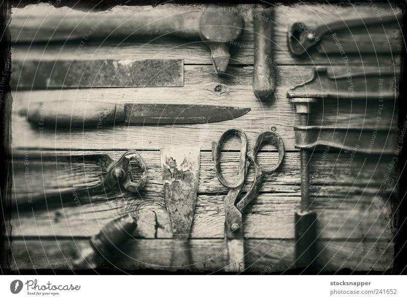 alt Leben Rost Stillleben Werkzeug Schere Hammer altehrwürdig verschlissen