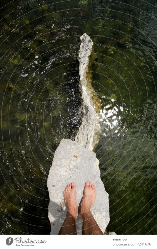 Chassezac Sackgasse Mensch Mann Natur Wasser grün Sommer Ferien & Urlaub & Reisen Meer Freiheit Landschaft Erwachsene Küste Fuß Wellen Freizeit & Hobby Angst
