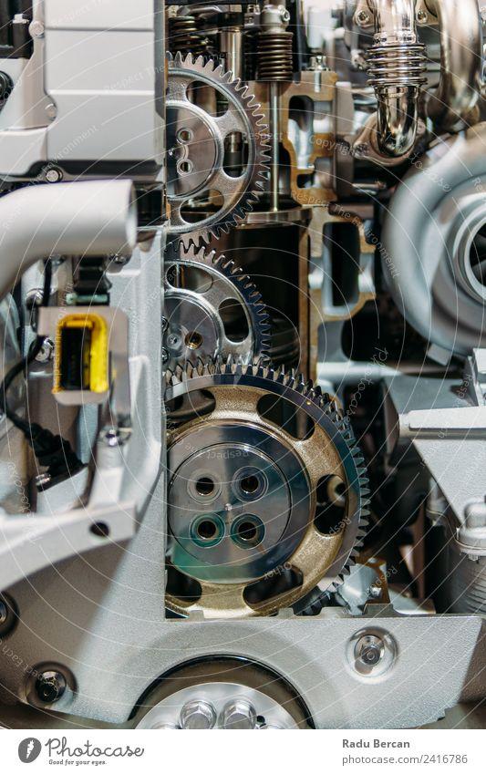 Zahnräder, Zahnräder und Räder im Lkw-Dieselmotor Design Arbeit & Erwerbstätigkeit Fabrik Industrie Maschine Motor Technik & Technologie Verkehr Fahrzeug PKW
