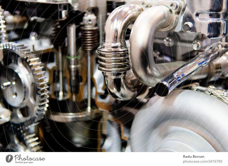 Zahnräder, Zahnräder und Räder im Lkw-Dieselmotor Design Arbeit & Erwerbstätigkeit Fabrik Industrie Maschine Motor Technik & Technologie Fahrzeug PKW Metall