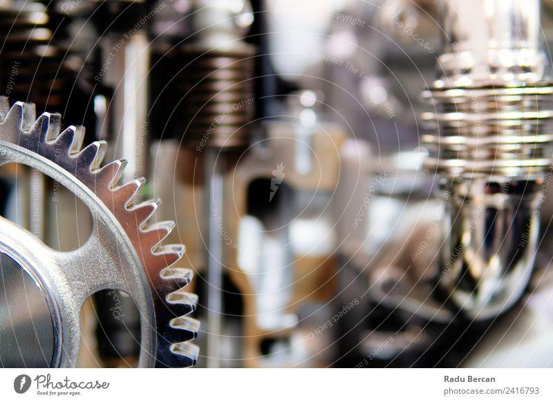 Zahnräder, Zahnräder und Räder im Lkw-Dieselmotor Design Arbeit & Erwerbstätigkeit Fabrik Industrie Maschine Motor Technik & Technologie Fahrzeug PKW Lastwagen