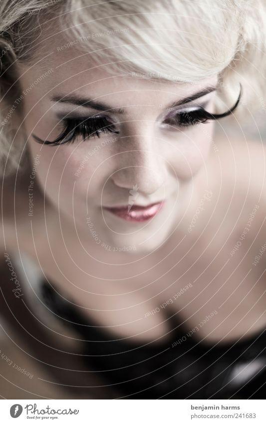 Wollust #2 falsche wimpern Wimpern Mensch feminin Junge Frau Jugendliche Kopf 1 18-30 Jahre Erwachsene blond langhaarig Locken Romantik Erotik schön Begierde