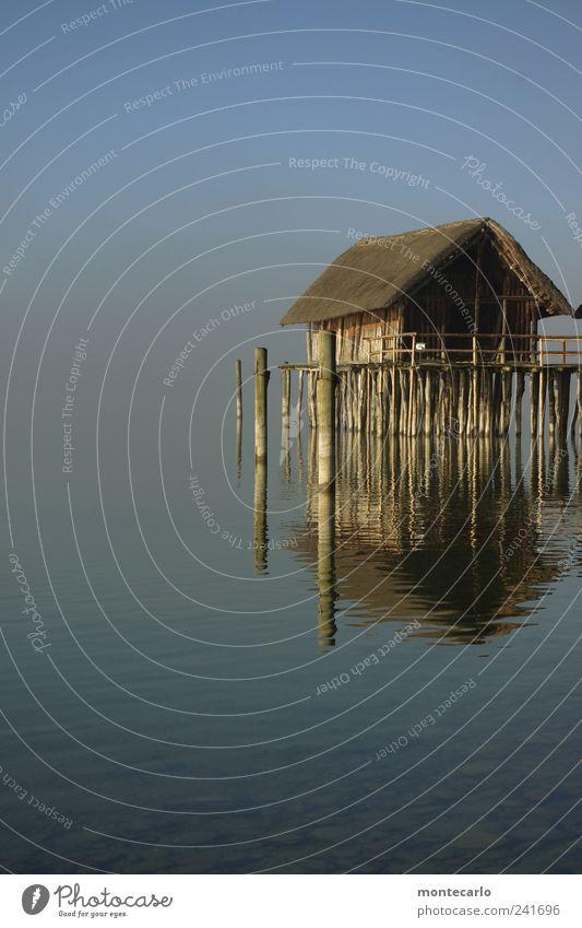 Ein Schiff wird kommen... Himmel Natur Wasser Tier Haus Landschaft Stimmung See Sehenswürdigkeit Bodensee Fischerdorf