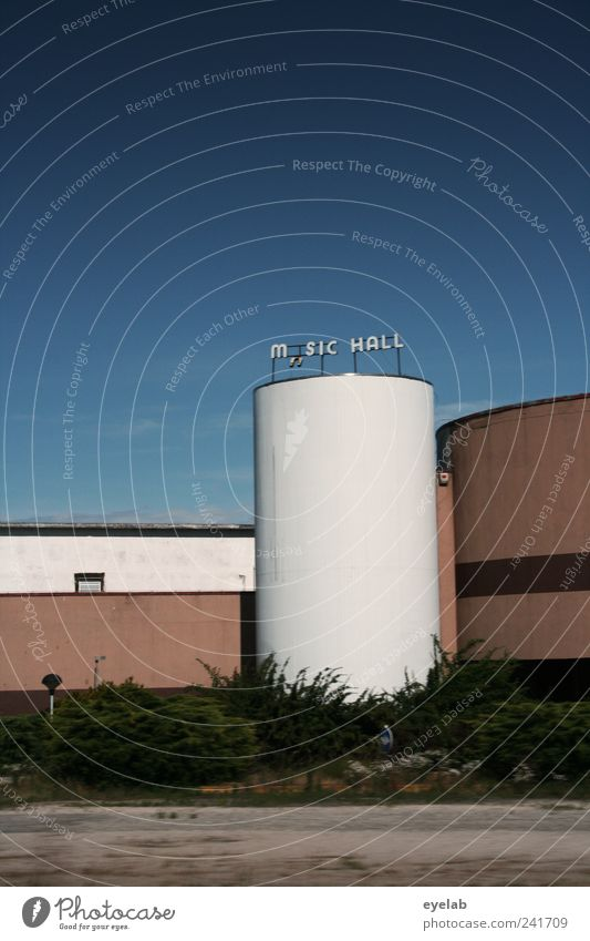 M SIC HALL alt Pflanze Haus Fenster Wand Architektur Mauer Stein Gebäude braun gehen Fassade Schilder & Markierungen Beton kaputt Schriftzeichen