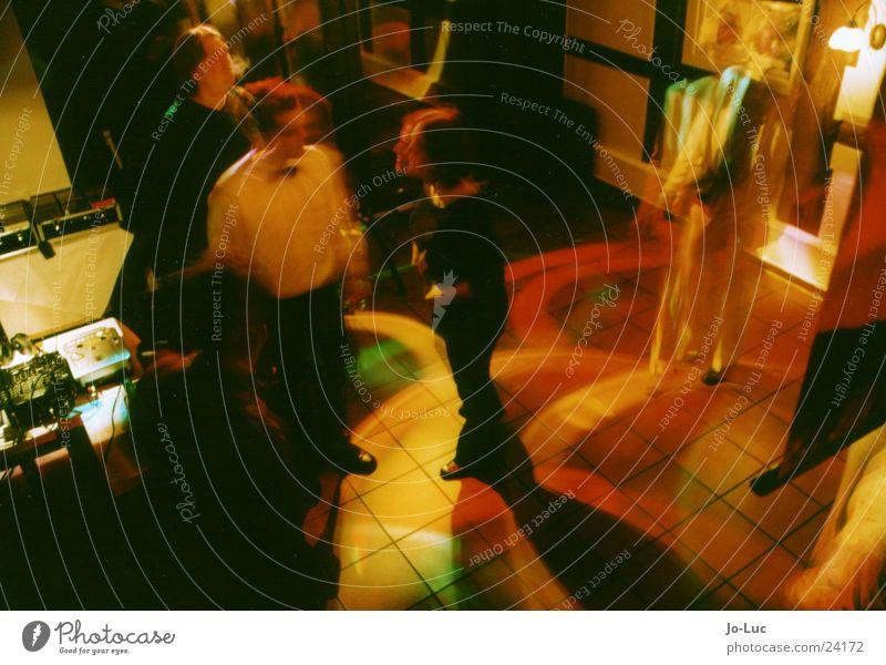 dance 'n step Party Disco Licht Nacht dunkel Langzeitbelichtung Freizeit & Hobby Feste & Feiern Tanzen Reaktionen u. Effekte Bewegung Paar