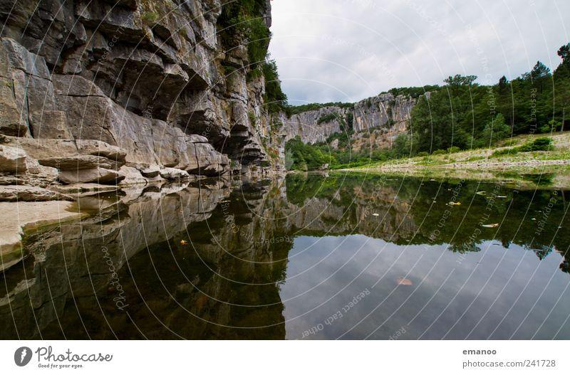 chassezac canyon Himmel Natur Ferien & Urlaub & Reisen Pflanze Wasser Landschaft Wolken Strand Wald natürlich Freiheit See Linie Felsen Horizont Tourismus
