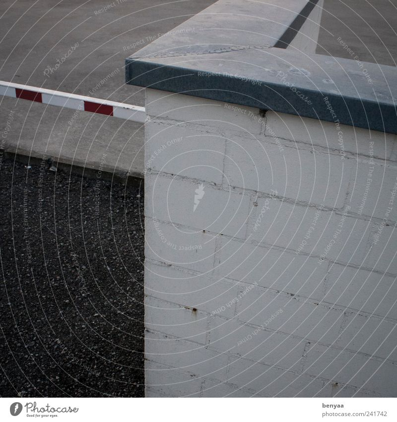 beschränkt Mauer Wand Verkehr Verkehrswege Straßenverkehr Schranke Kontrolle Verbote Wege & Pfade geschlossen schließen Grenze Zutritt verboten pförtner Eingang