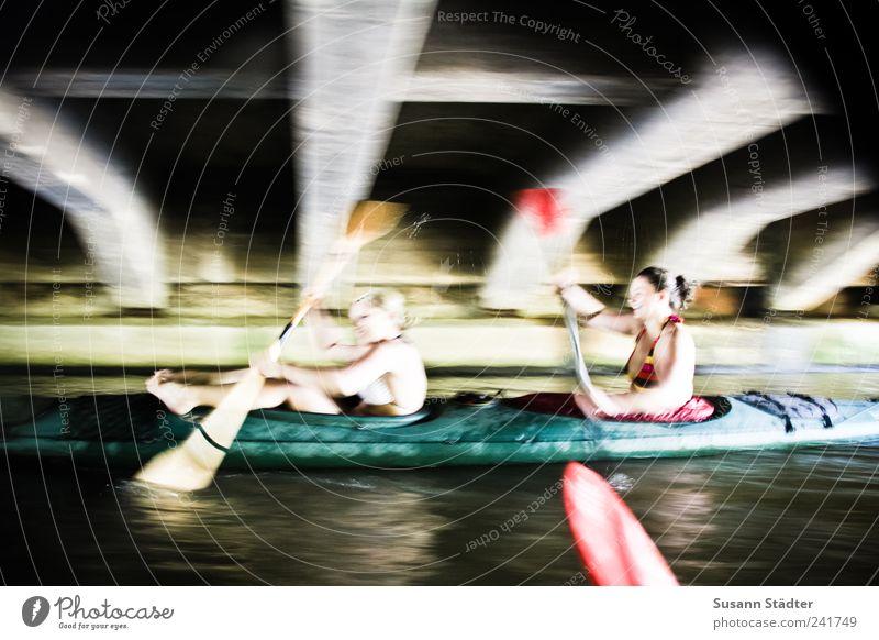 Wunsch frei! Frau Sommer Freude Ferien & Urlaub & Reisen Sport Freiheit lachen Wellen Freizeit & Hobby Ausflug Brücke Fitness sportlich Bikini genießen
