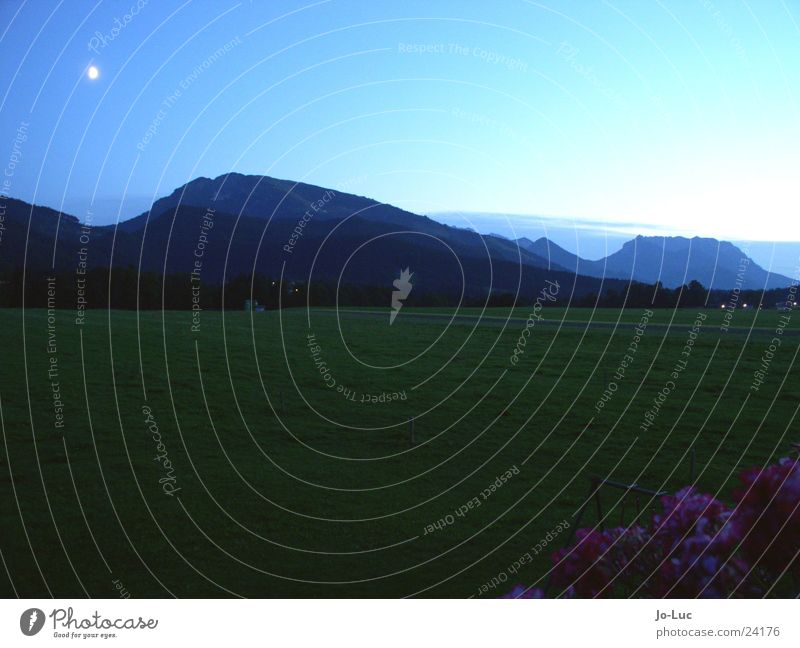 Kaiser König Dämmerung Berge u. Gebirge Mond Himmel Abend blau Unterberg