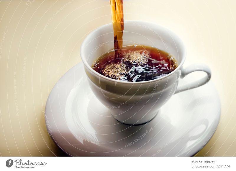 Wärme frisch Getränk Kaffee heiß Tasse Luftblase dienen eingießen Koffein