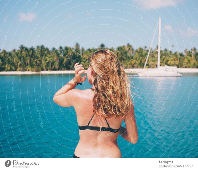 oceanAIR - saltyHAIR Mensch Ferien & Urlaub & Reisen Jugendliche Junge Frau Sommer schön Sonne Meer Strand Ferne 18-30 Jahre Erwachsene Leben feminin Glück