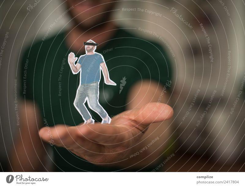 in der Hand Mensch Mann Einsamkeit schwarz Erwachsene Gesundheit sprechen Business Arbeit & Erwerbstätigkeit Häusliches Leben Angst maskulin Körper