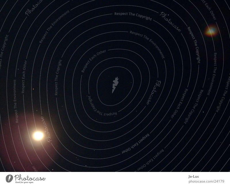 sie sind gelandet dunkel Stern Nebel Mond UFO Sternenhimmel Vollmond Aura