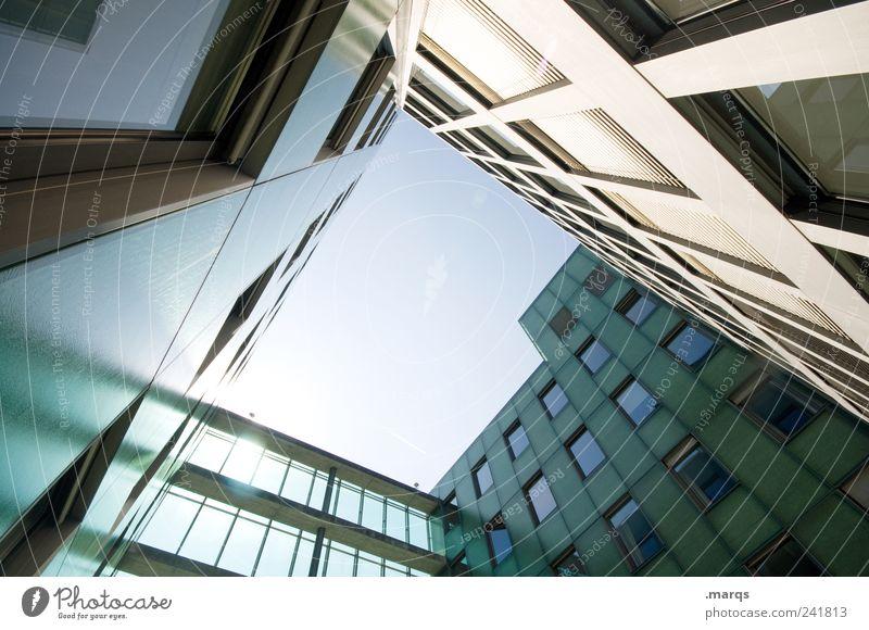 Vanish Fenster Architektur Gebäude Fassade hoch modern ästhetisch Wachstum Perspektive Lifestyle Coolness Häusliches Leben Bankgebäude Bauwerk trendy