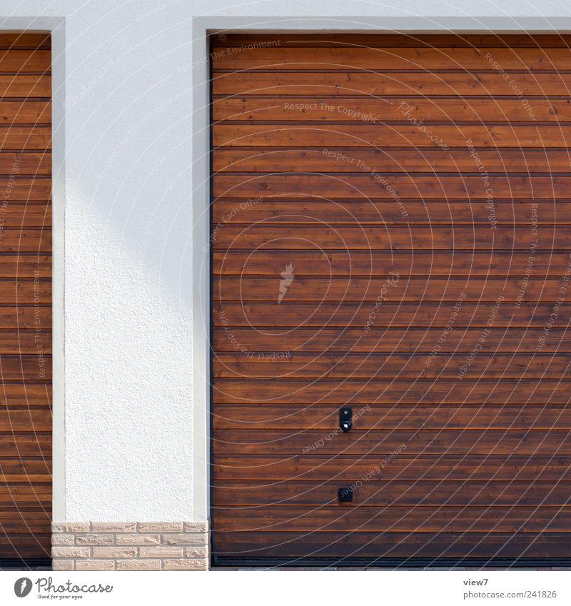 closed :: Haus Ferne Wand Holz Stein Mauer Gebäude Linie Architektur Beton Beginn geschlossen Ordnung authentisch Häusliches Leben Streifen