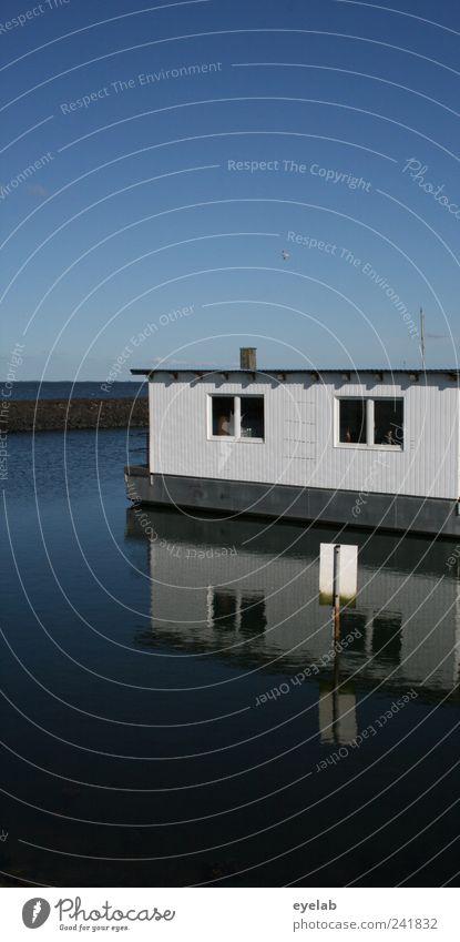 Jedem sein Venedig Umwelt Wasser Wolkenloser Himmel Horizont Klima Wetter Schönes Wetter Meer Haus Einfamilienhaus Traumhaus Hütte Bauwerk Gebäude Architektur
