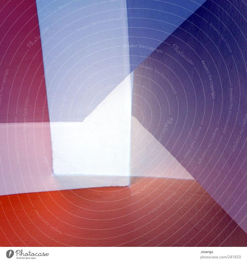 Multiplex weiß blau rot Stil Linie Architektur Design elegant Lifestyle modern violett einzigartig Innenarchitektur außergewöhnlich Grafik u. Illustration