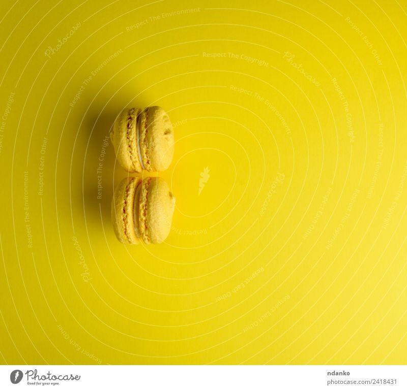 Farbe gelb hell Frankreich Süßwaren Tradition Dessert Backwaren Zucker Snack Konfekt Bäckerei backen Feinschmecker Vanille Mandel