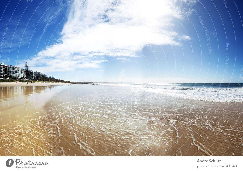 Mooloolaba · Sunshine Coast Himmel blau Wasser Ferien & Urlaub & Reisen Meer Sommer Freude Wolken Erholung Küste Sand Luft Zufriedenheit Schwimmen & Baden gold