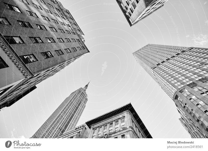 Wolkenkratzer in Manhattan, New York City. Ferien & Urlaub & Reisen Sightseeing Städtereise Wohnung Büro Hochhaus Gebäude Architektur Wahrzeichen Denkmal
