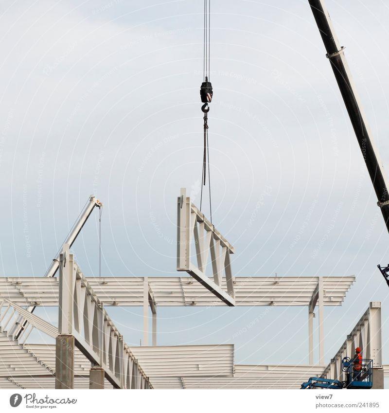 Aufbau Himmel Arbeit & Erwerbstätigkeit Metall Beginn Industrie Energiewirtschaft Güterverkehr & Logistik Fabrik authentisch Dach Baustelle Teile u. Stücke machen Maschine bauen Werkzeug