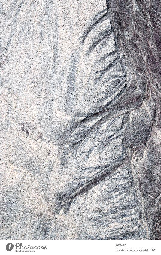 sandstruktur Küste Seeufer Flussufer Strand Natur Spuren Strukturen & Formen Sand Wasser Formation Muster Abdruck Farbfoto Außenaufnahme Menschenleer