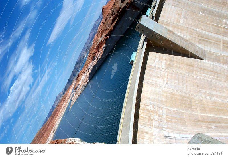 stausee Wasser Mauer See USA Amerika Schlucht Damm Stausee Staumauer Powell River Südwest