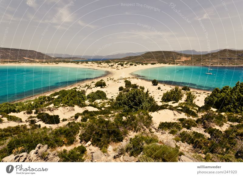 Simos Beach | Elafonisos, Greece Himmel Natur Ferien & Urlaub & Reisen Pflanze Wasser Sommer Erholung Meer Landschaft Strand Wärme Küste Freiheit