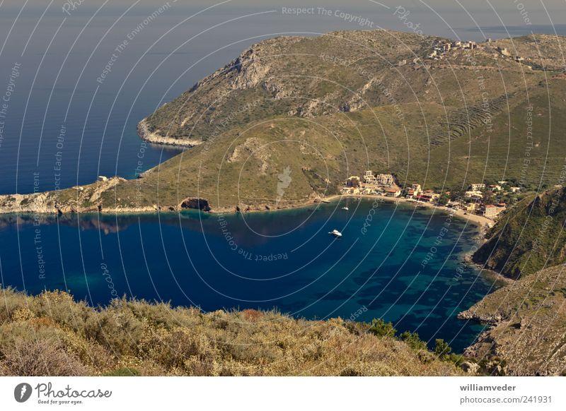Porto Kagio | Greece Natur Ferien & Urlaub & Reisen Pflanze Wasser Sommer Erholung Meer Landschaft Berge u. Gebirge Küste Freiheit Horizont Tourismus
