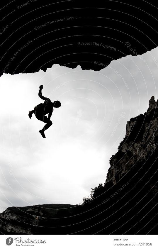 deep water soloing 3 Lifestyle Stil Freude Freizeit & Hobby Ferien & Urlaub & Reisen Abenteuer Freiheit Strand Meer Klettern Bergsteigen Mensch maskulin Mann