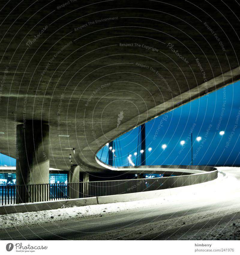 adobe bridge Winter Straße Schnee Architektur Bewegung Wege & Pfade Eis Design Verkehr Klima Brücke Frost Güterverkehr & Logistik Bauwerk Verkehrswege