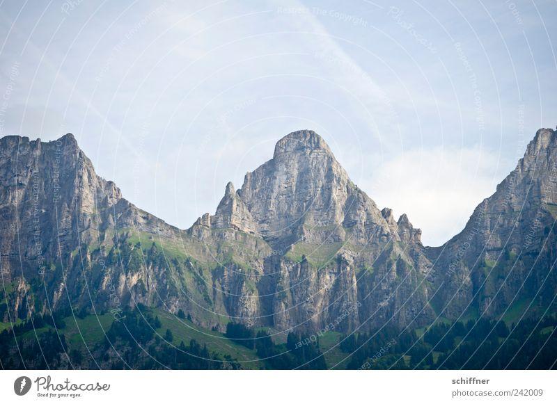 Brisi - Zuestoll - Schibenstoll Natur Himmel Felsen Alpen Berge u. Gebirge Gipfel ästhetisch hoch Berghang Wald steil einzigartig fantastisch Schweiz